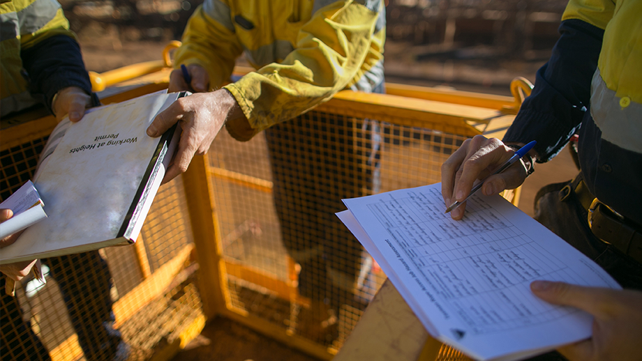 Construction workers permit