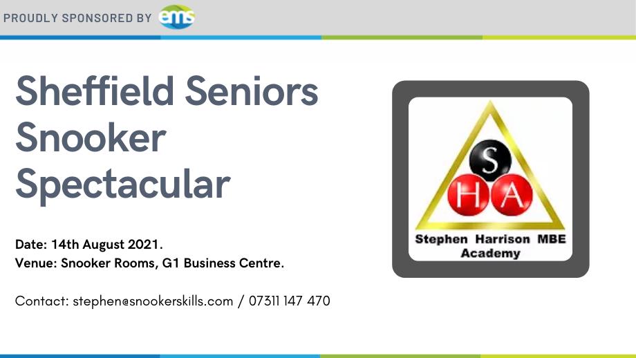 EMS sponsors Sheffield Seniors Snooker Spectacular