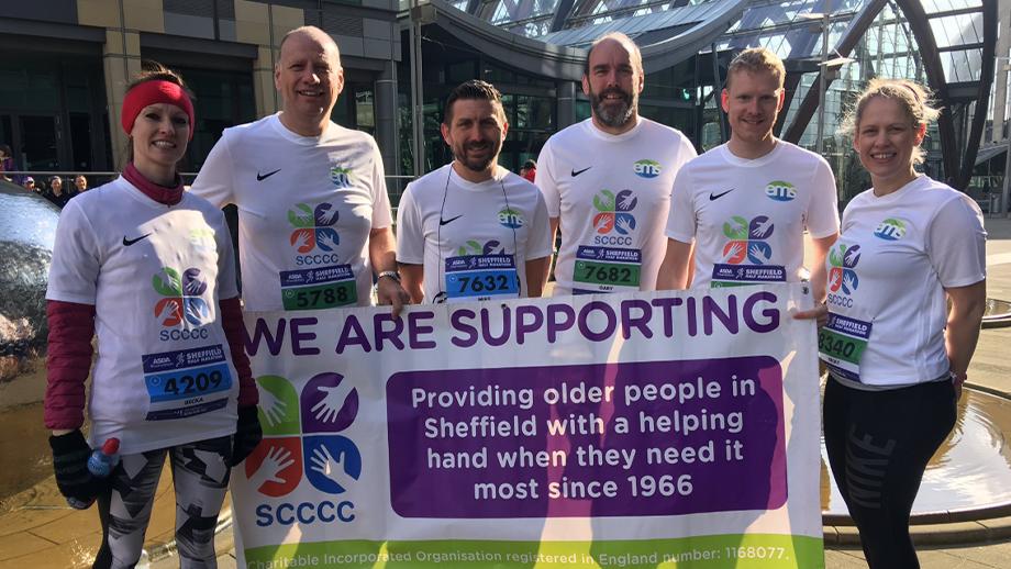 EMS run the Sheffield Half Marathon to Raise Money for SCCCC