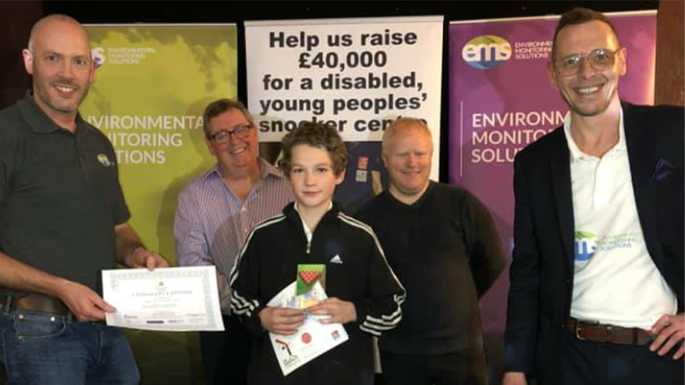 Kieran and Steve for snooker charity
